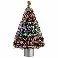 National Tree Co. 4 Foot Evergreen Flocked Pre-Lit Christmas Tree