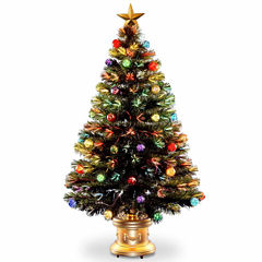 National Tree Co. 4 Foot Fireworks Ornament & Top Star Pre-Lit Christmas Tree