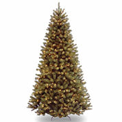 National Tree Co 7 1/2 Feet North Valley Spruce Hinged Pre-Lit Christmas Tree