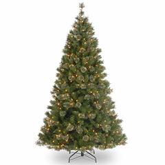 National Tree Co. 7 1/2 Foot Atlanta Spruce Hinged Pre-Lit Christmas Tree