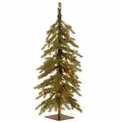 National Tree Co. 3 Foot Nordic Spruce Cedar Pre-Lit Christmas Tree