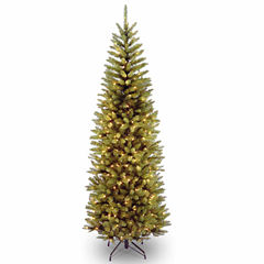 National Tree Co. 7 Foot Kingswood Fir Pencil Hinged Pre-Lit Christmas Tree
