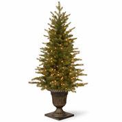 National Tree Co 4 Feet Nordic Spruce Entrance Pre-Lit Christmas Tree