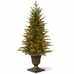National Tree Co. 4 Foot Nordic Spruce Entrance Pre-Lit Christmas Tree