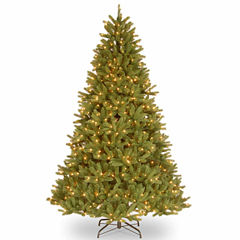 National Tree Co. 9 Foot Grande Fir Hinged Pre-Lit Christmas Tree