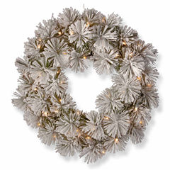 National Tree Co. Snowy Bristle Pine Indoor/Outdoor Christmas Wreath