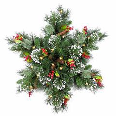National Tree Co. Wintry Pine Snowflake Holiday Yard Art