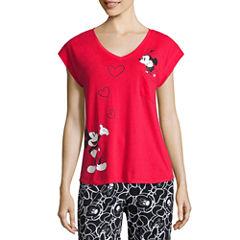 Disney Short Sleeve Pajama Top-Juniors