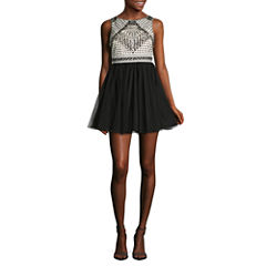 As U Wish Sleeveless Beaded Party Dress