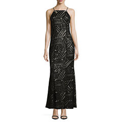 Trixxi Sleeveless Sequin Party Dress-Juniors