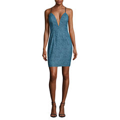Trixxi Sleeveless Lace Bodycon Dress-Juniors