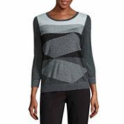 Liz Claiborne Plaited Pullover Sweater-Talls