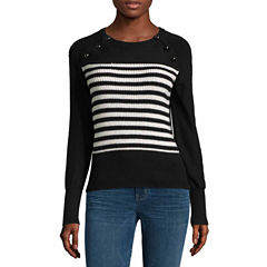 A.N.A Stripe Sweater With Dome Buttons-Talls