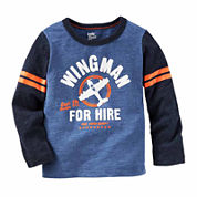 Oshkosh Boys Long Sleeve Wing Man T-Shirt-Toddler