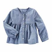 Oshkosh Girls Long Sleeve T-Shirt-Toddler