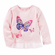 Oshkosh Girls Long Sleeve T-Shirt-Toddler
