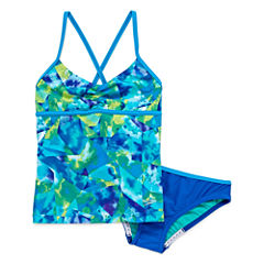 Speedo Girls Pattern Tankini Set - Big Kid