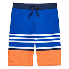 Arizona Boys Stripe Trunks-Big Kid