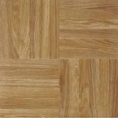 Nexus Oak Parquet 12x12 Self Adhesive Vinyl Floor Tile - 20 Tiles/20 Sq Ft.