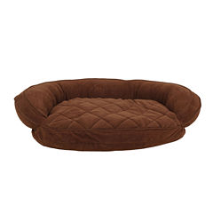 Carolina Pet Company Microfiber Quilted Bolster Bed with Moister Barrier Protection