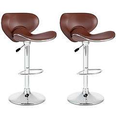 2-Pc. Form Fitting Adjustable Barstools