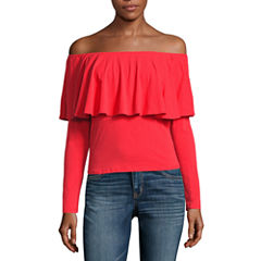 i jeans by Buffalo Ruffle Off Shoulder Top