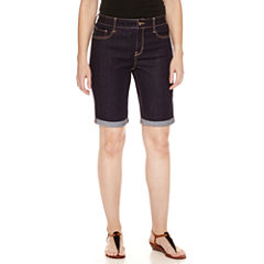St. John's Bay Denim Bermuda Shorts