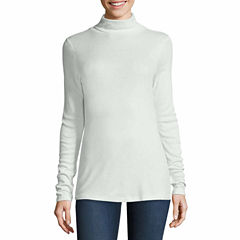 Stylus Long Sleeve Turtleneck T-Shirt-Womens