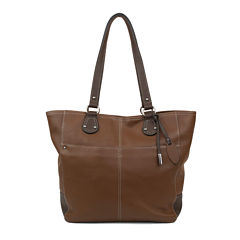 Mundi Rio Leather Tote Bag