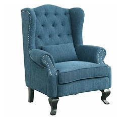 Fabric Roll-Arm Chair