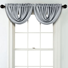 JCPenney Home Textured Blackout Rod Pocket Poly-Cotton Lined Waterfall Valance