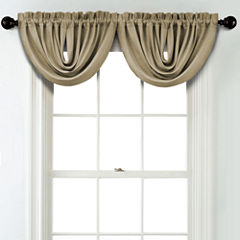 JCPenney Home Textured Blackout Rod Pocket Unlined Waterfall Valance