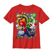 Fifth Sun H16 Mario Blast Out Tee- Preschool Boys 4-7