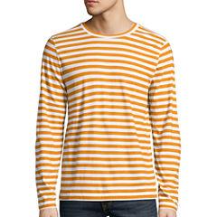 Arizona Long Sleeve Stripe Crew Neck T-Shirt