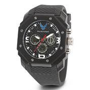 Wrist Armor® C28 Mens US Air Force Black Silicone Chronograph Watch