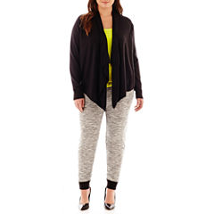 a.n.a® Flyaway Cardigan, Strappy Cami or Knit Jogger Pants - Plus