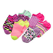 Total Girl® 6-pk. Wild Shorty Socks - Girls 6-11