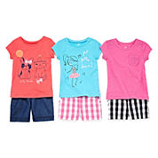 Okie Dokie® Tee, Gingham Shorts or Bermuda Shorts - Toddler Girls 2t-5t