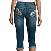 Love Indigo Wing Back Pocket Capris