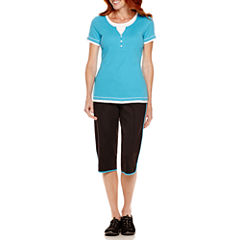 Made for Life™ Short-Sleeve Layered T-Shirt or Woven Capris