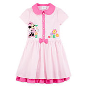 Disney Collection Pink Minnie Mouse Dress - Girls 2-8