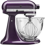 KitchenAid® 5-qt. Artisan® Design Series Stand Mixer + Glass Bowl KSM155GBCA