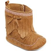 Okie Dokie Girls Slip-On Fringe Boot