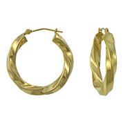 25mm 14K Gold Large Twist Hoop Earrings