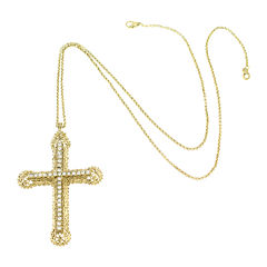KJL by KENNETH JAY LANE Crystal Cross Pendant Necklace
