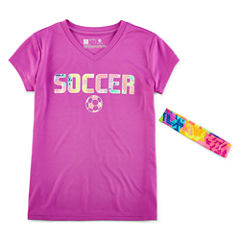 Xersion Short Sleeve T-Shirt-Big Kid Girls