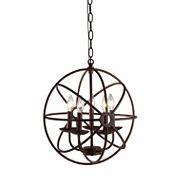 Warehouse Of Tiffany Theo 5-light Rust 17-inch Chandelier