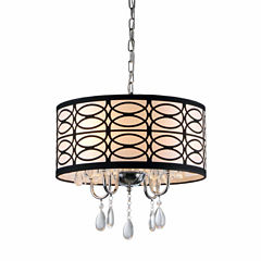 Warehouse Of Tiffany Tallalluh 4-light Chrome Chandelier