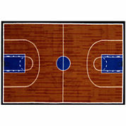 Basketball Court Rectangle Rugs