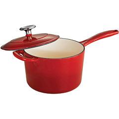Tramontina® Gourmet 2½-qt. Enameled Cast Iron Covered Saucepan